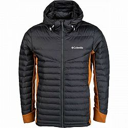 Columbia POWDER PILLOW HYBRID HOODED JACKET sivá S - Pánska bunda