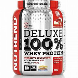 Nutrend DELUXE 100% WHEY 900G JAHODOVÝ CHEESECAKE  NS - Proteín